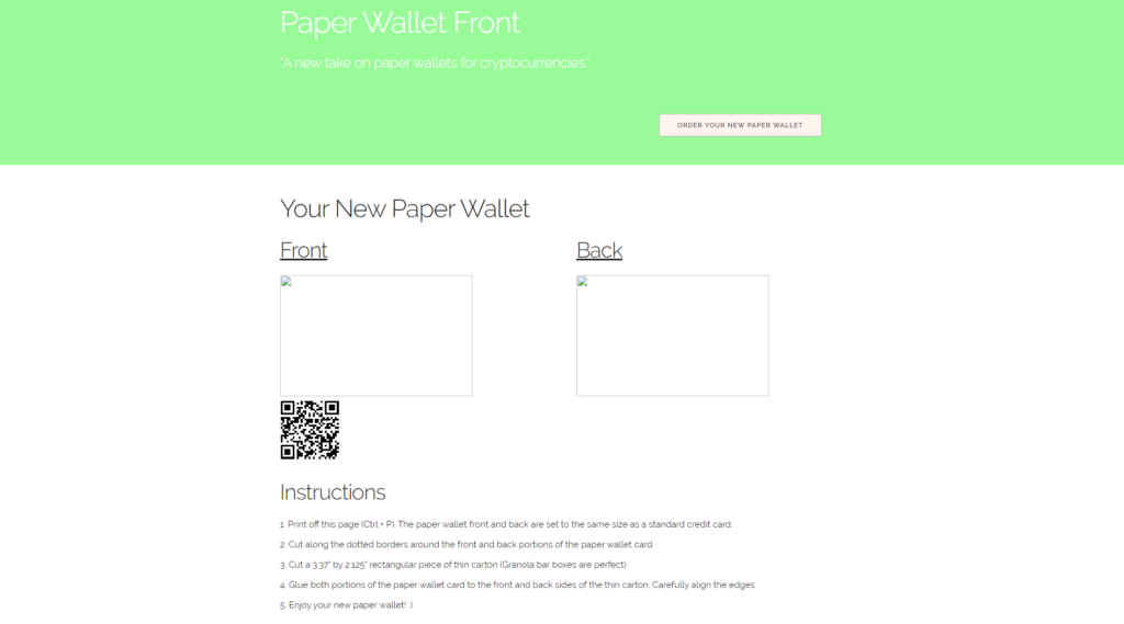 The wallet.html page so far